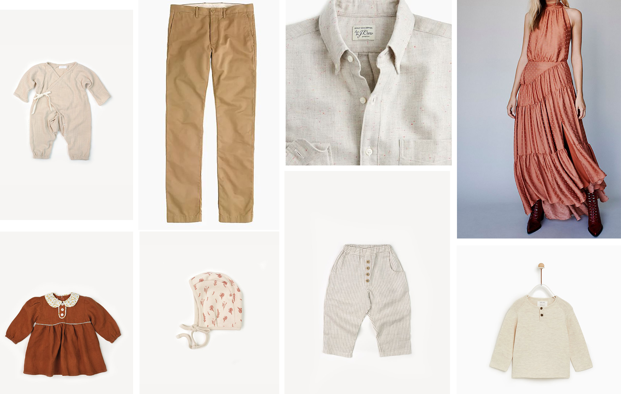 Sevenish Photography Autumn session outfit style board